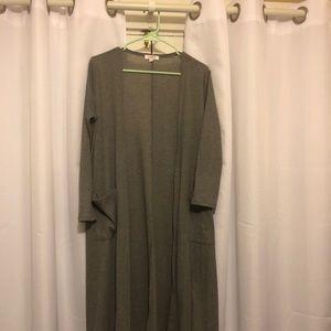 Long gray lularoe Sarah sweater